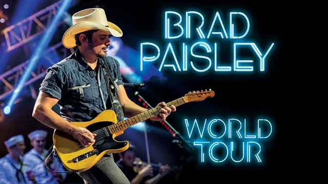 BRAD PAISLEY ANNOUNCES EXTENDED TOUR DATES 2020