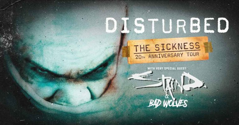 Disturbed Shares 'The Sickness' 20th Anniversary Celebration tour in 2020.