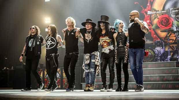 Guns N' Roses Be On North American 2020 Stadium Tour.